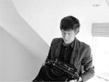 James with typewriter